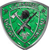 Zombie Death Squad Zombie Outbreak Decal in Green Diamond Plate