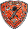 Zombie Death Squad Zombie Outbreak Decal in Orange Diamond Plate