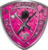 Zombie Death Squad Zombie Outbreak Decal in Pink Diamond Plate
