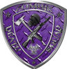 Zombie Death Squad Zombie Outbreak Decal in Purple Diamond Plate