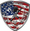Zombie Death Squad Zombie Outbreak Decal American Flag