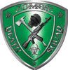 Zombie Death Squad Zombie Outbreak Decal in Green