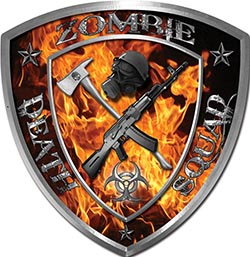 Zombie Death Squad Zombie Outbreak Decal in Inferno Flames