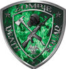 Zombie Death Squad Zombie Outbreak Decal in Green Inferno Flames