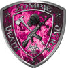 Zombie Death Squad Zombie Outbreak Decal in Pink Inferno Flames