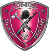 Zombie Death Squad Zombie Outbreak Decal in Pink