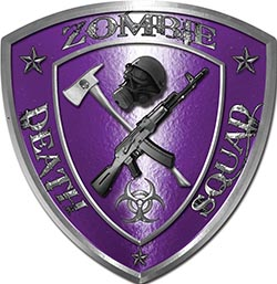 Zombie Death Squad Zombie Outbreak Decal in Purple