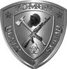 Zombie Death Squad Zombie Outbreak Decal in Silver