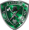 Zombie Death Squad Zombie Outbreak Decal with Green Evil Zombie Skulls
