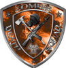 Zombie Death Squad Zombie Outbreak Decal with Orange Evil Zombie Skulls
