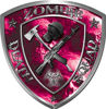 Zombie Death Squad Zombie Outbreak Decal with Pink Evil Zombie Skulls