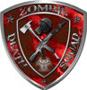 Zombie Death Squad Zombie Outbreak Decal with Red Evil Zombie Skulls