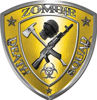 Zombie Death Squad Zombie Outbreak Decal in Yellow