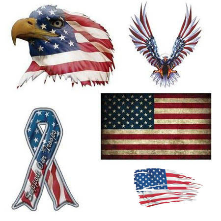 Picture for category American Flag Patriotic Decals