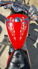 Twin Flame Motorcycle Tank USA Patriotic Flag on Motorcycle Tank