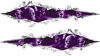 Weston Ink's Ripped Torn Metal Graphic Decal with Skull Purple