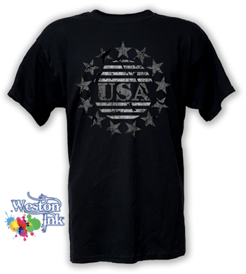 USA 13 Star Distressed Patriot T-Shirt from Weston Ink