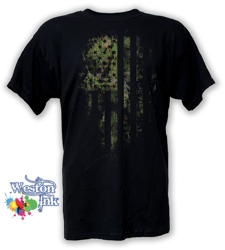 Camouflage Distressed American Flag T-Shirt