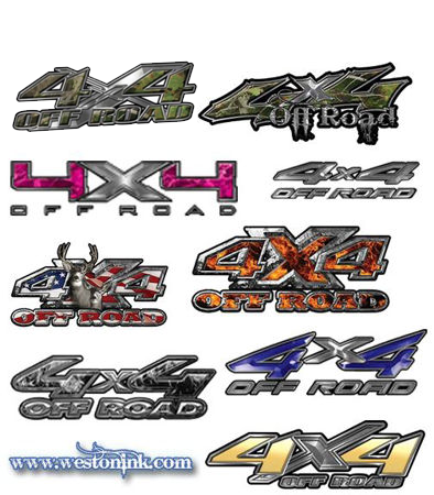 Picture for category 4x4 Off Road Decals